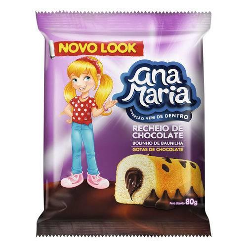 Bolinho Ana Maria Gotas Chocolate 80g - Pullman