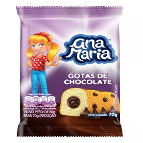 Bolinho Ana Maria Sabor Gotas de Chocolate Pullman 80g