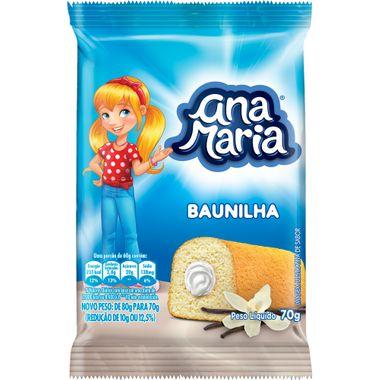 Bolinho Recheado Ana Maria Baunilha 70g