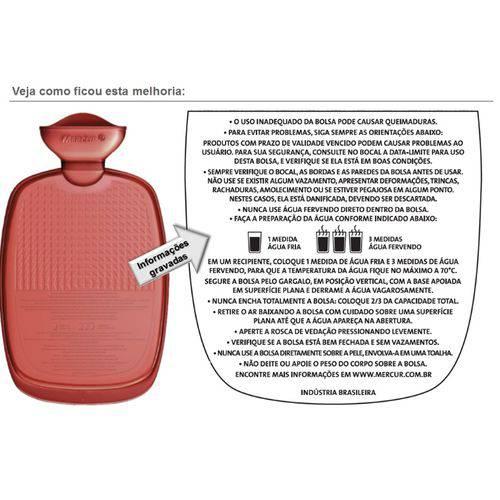 Bolsa Água Quente G - Cor Bordô - Mercur - Cód: Bc0014bo