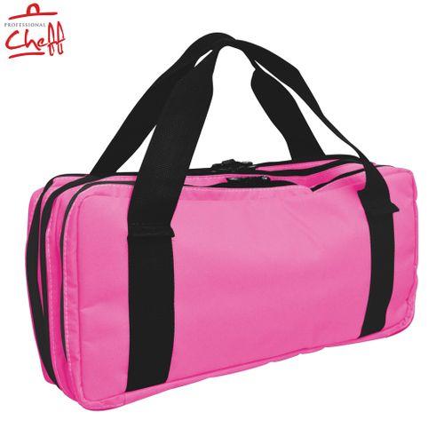 Bolsa Cordura Nylon Rosa com Alça 16 Compartimentos para Facas e Utensílios - Professional Cheff