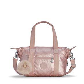 Bolsa de Mão Art Mini Rosa Metallic Blush Kipling