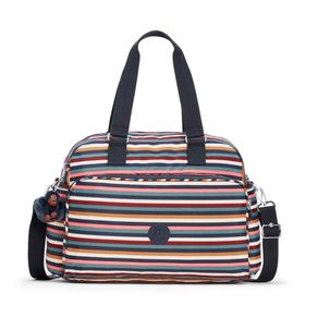 Bolsa de Mão July Bag Listrada Multi Stripes Kipling