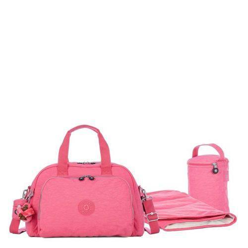 Bolsa de Mão Maternidade Camama Rosa Carmine Pink Kipling