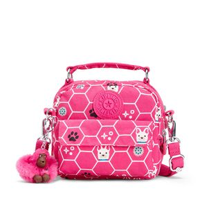 Bolsa de Mão Puck Rosa Pink Dog Tile Kipling