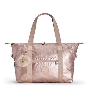 Bolsa de Ombro Art M Rosa Metallic Blush Kipling