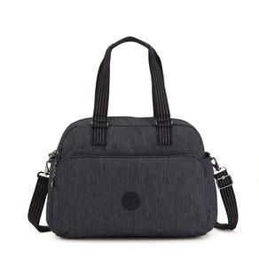 Bolsa de Ombro July Bag Cinza Active Denim Kipling