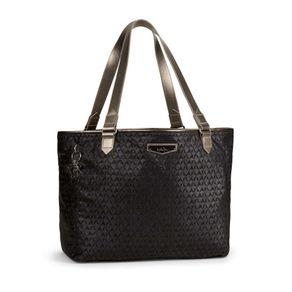 Bolsa de Ombro Lots Of Bag Preta Black Ink Emb Kipling