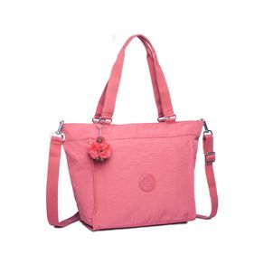 Bolsa de Ombro New Shopper S Rosa Smooth Berry Kipling