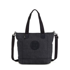 Bolsa de Ombro Shopper C Cinza Active Denim Kipling