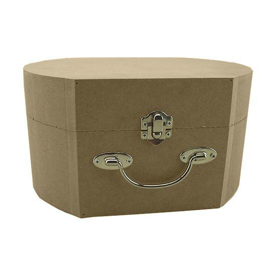 Bolsa Decorativa em MDF com Fecho e Alça Metal 16,3x23x12,3cm - Palácio da Arte