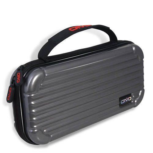 Bolsa Estojo Case Carry + Pelicula de Vidro -cinza Nintendo Switch - Oivo