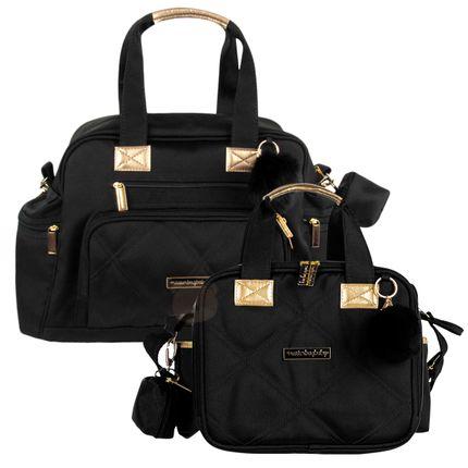 Bolsa Everyday + Bolsa Térmica Organizadora para Bebê Soho Black - Masterbag