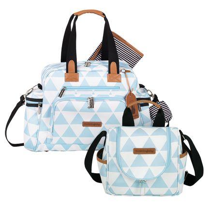 Bolsa Everyday + Frasqueira Térmica Emy Manhattan Azul - Masterbag