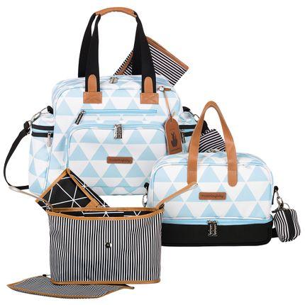 Bolsa Everyday + Frasqueira Térmica Vicky + Frasqueira Organizadora Manhattan Azul - Masterbag