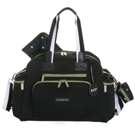 Bolsa Everyday Move - Preto com Oliva - Masterbag