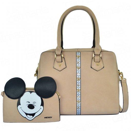 Bolsa Feminina Disney Mickey Funny com Necessaire