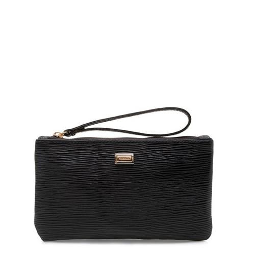 Bolsa Feminina Mini Bag - Couro Raiz Preto UN