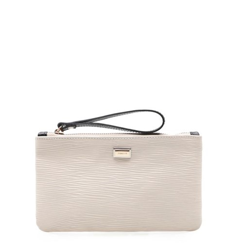 Bolsa Feminina Mini Bag - Couro Raiz White/ Preto UN