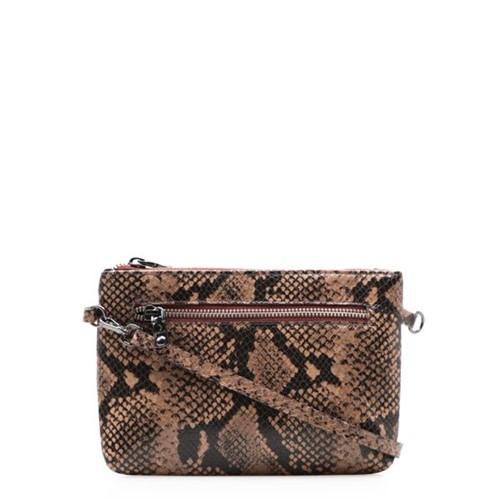 Bolsa Feminina Mini Bag New - Couro Python Avelã UN