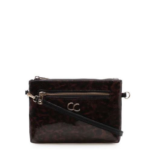 Bolsa Feminina Mini Bag Tortoise - Couro Atanado Preto UN