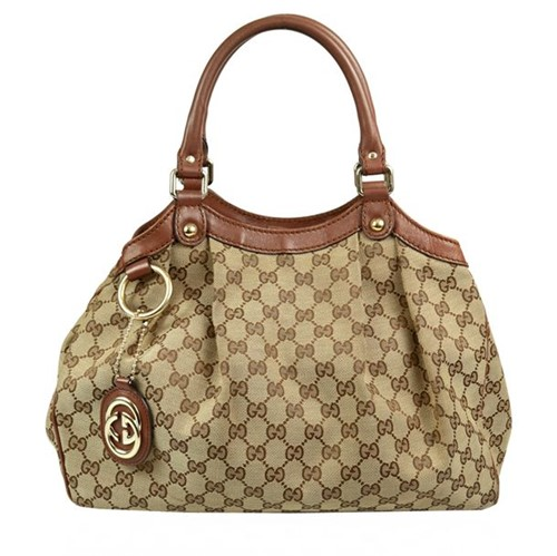 Bolsa Gucci Sukey Jacquard Pequena