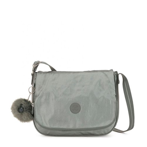 Bolsa Kipling Earthbeat M Metallic Stony-Único