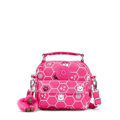 Bolsa Kipling Puck Pink Dog Tile -Único