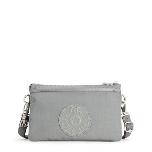 Bolsa Kipling Riri Smooth Grey-Único