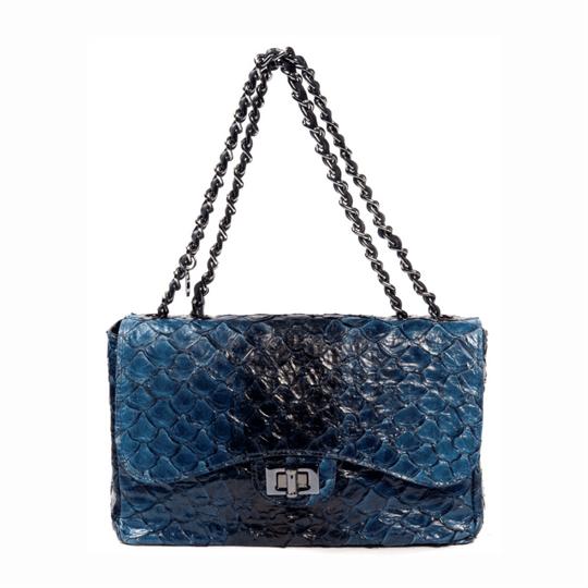 Bolsa La Spezia Silvia Pirarucu Degradê Azul