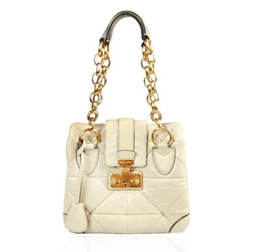 Bolsa Marc Jacobs Couro Off White Metal Dourado