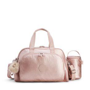 Bolsa Maternidade Camama Rosa Metallic Blush Kipling
