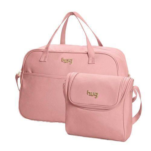 Bolsa Maternidade Classic Rosa Kit 02 Peças Mala + Bolsa M - Hug