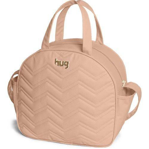 Bolsa Maternidade com Alça Fixa Chevron G Nude - Hug Baby