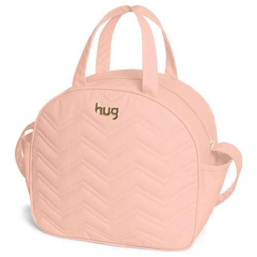 Bolsa Maternidade com Trocador Chevron Rosa - Hug