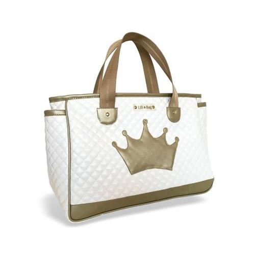 Bolsa Maternidade Dia Matelassê Branca Coroa - LiliBag