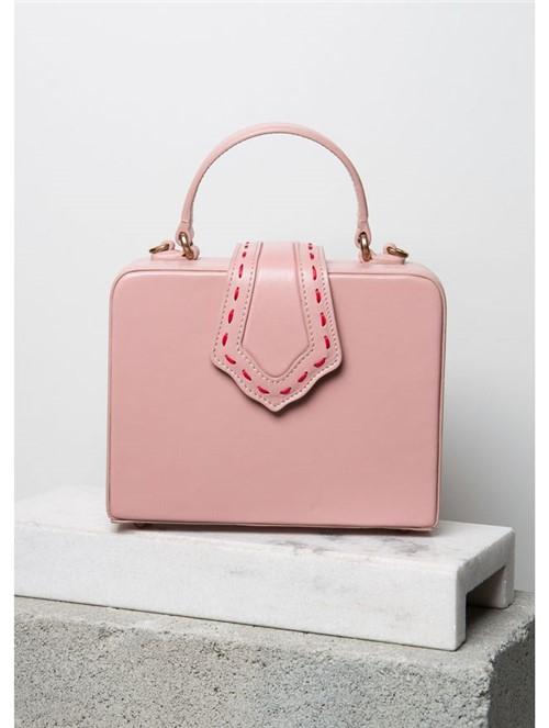 Bolsa Mini Fey de Couro Rosa
