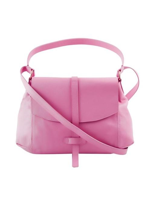 Bolsa Mini Mia de Couro Rosa