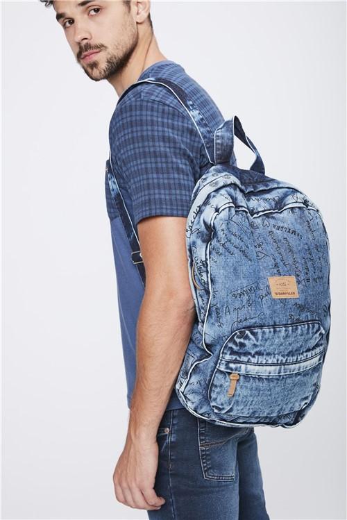 Bolsa Mochila Jeans - Tam: UC / Cor: BLUE