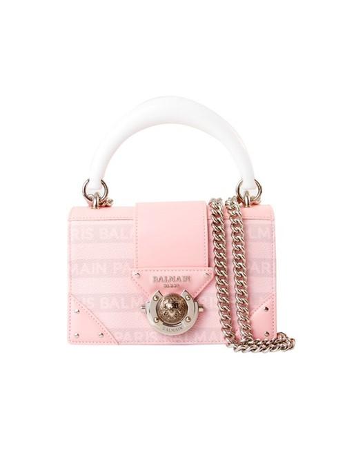 Bolsa Ring Box de Couro Rosa