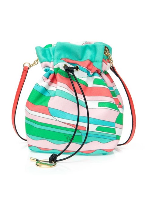 Bolsa Saco Mini Estampada Verde