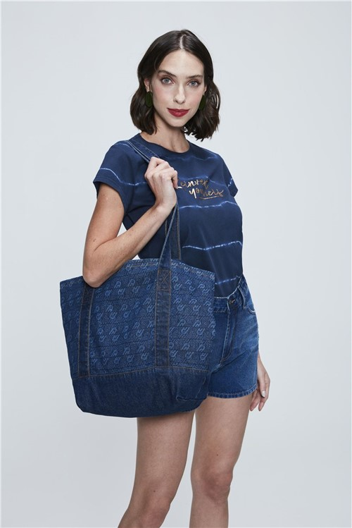 Bolsa Sacola Jeans - Tam: UC / Cor: BLUE