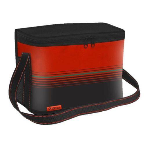 Bolsa Térmica Cooler 9,5 Litros com Alça Academia Lanche Alimentos Bebidas Vermelha - Soprano