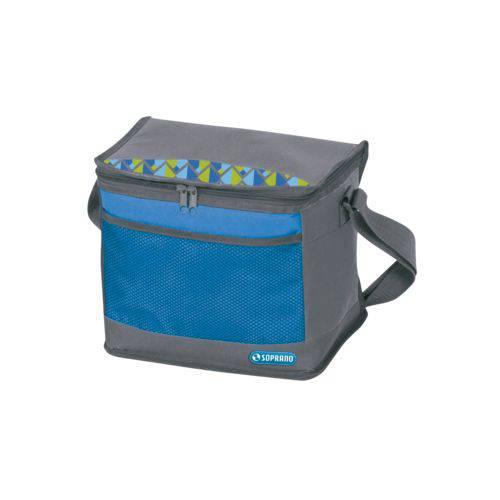 Bolsa Térmica Cooler 9,5 Litros Tropical - Azul