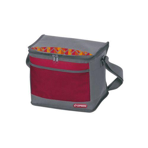 Bolsa Térmica Cooler 9,5 Litros Tropical - Vermelho