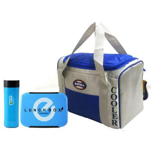 Bolsa Térmica Cooler C/ Alça 24 Litros C/ Kit Marmita-batiki