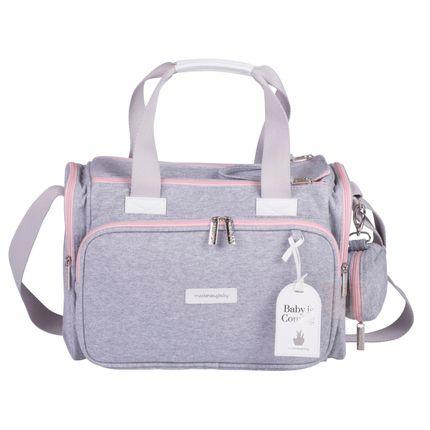 Bolsa Térmica para Bebe Anne Moletom Rosa - Masterbag