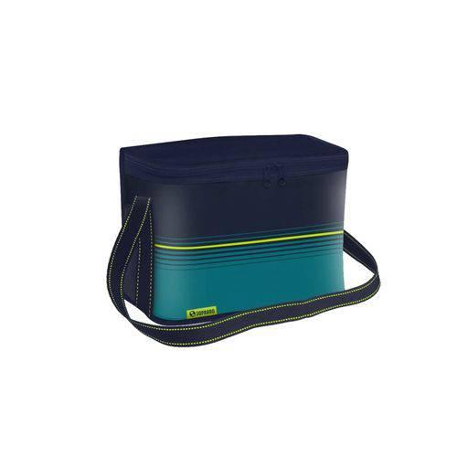 Bolsa Térmica Pop 18l Azul Lancheira Marmita Soprano