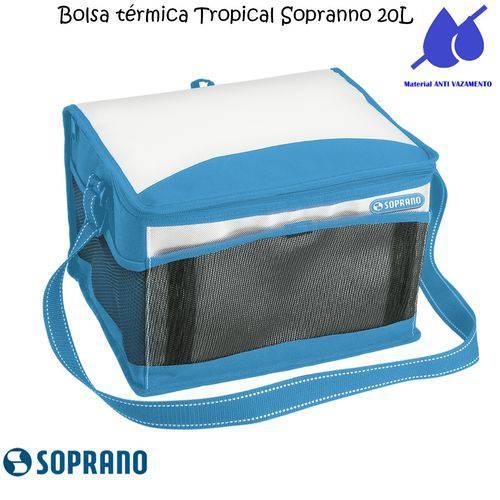 Bolsa Térmica Tropical 20 Litros Soprano Azul