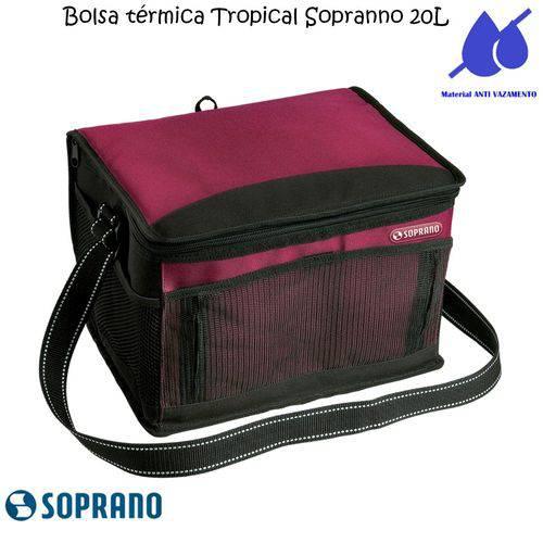 Bolsa Térmica Tropical 20 Litros Soprano Vermelha